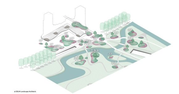 6 © DELVA Landscape Architects Urbanism Powerhouse Amvest Synchroon KJ Plein Centraal station Den Haag Koekamp Park Entree_Iso Park en plein verbinden