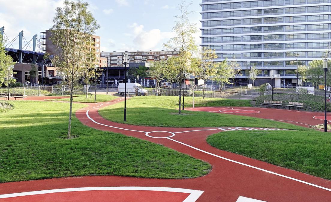 DELVA Landscape architecture urbanism amsterdam rijswijk Bogaardplein September liggend01